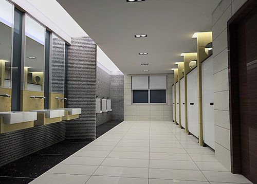 3d model of public toilet free 3d model download toliet for Modern washroom designs