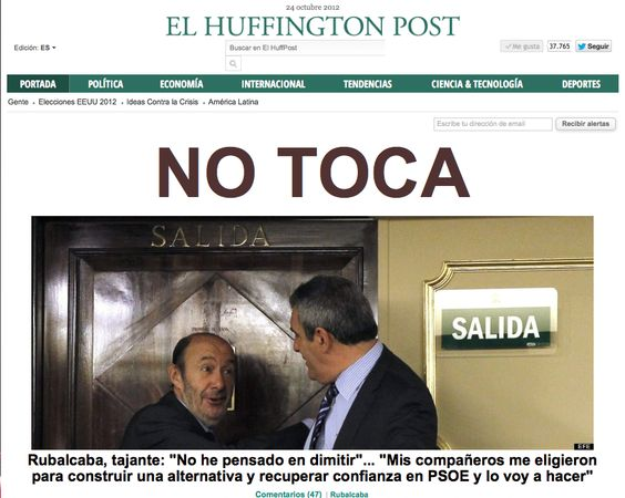 Parece que Alfredo Pérez Rubalcaba está dispuesto a aguantar todos los chaparrones