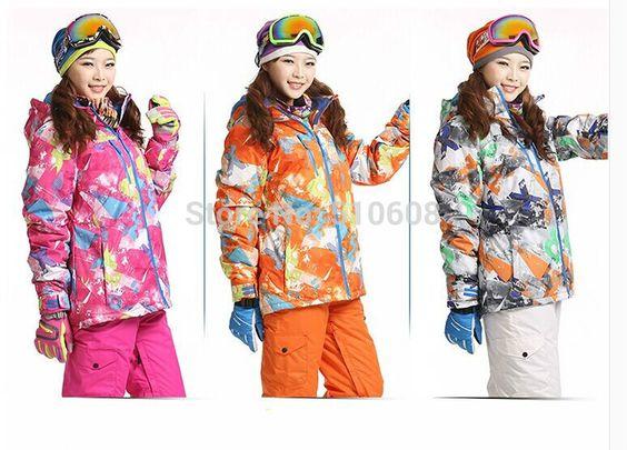 Ski mujer: Chaqueta de esquí a prueba de viento Deportes de Invierno Ropa de abrigo para excursiones.  Snowboard .Deportes y Tiempo Libre- NOW € 48 only