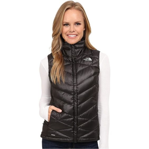 The North Face Aconcagua Vest Women's Vest, Black ($70) ❤ liked on Polyvore featuring outerwear, vests, black, the north face, insulated vest, vest waistcoat, the north face vest and down vest