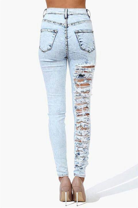 Ripped Skinny Leg Jeans - Xtellar Jeans