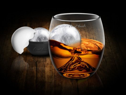 On The Rock Glass with Ice Ball Mold on OpenSky // this is cool. a ball of ice swirling around a glass peak. meditative, good drinking.