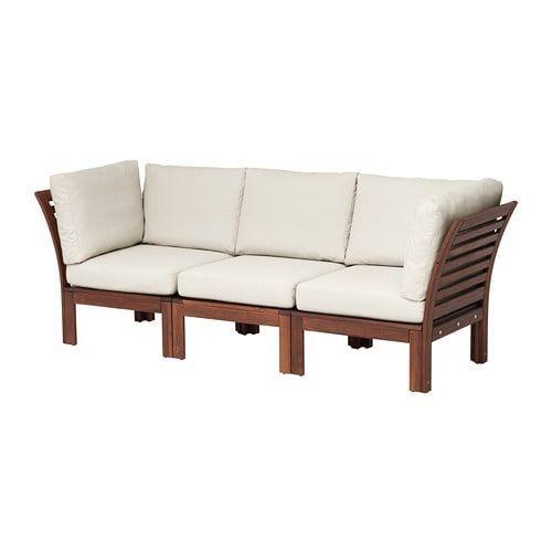 Furnishings Furniture Home Ikea Ikea Balkonmobel Applaro 3 Seat Modular Sofa Outdoor Brown St In 2020 Modular Corner Sofa Modular Sofa Wooden Outdoor Furniture