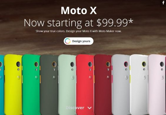 Moto X Now Starts at $99 From Moto Maker and Carriers | Androidheadlines.com
