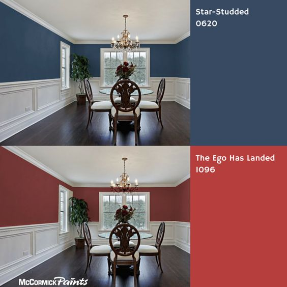 Blue or red for the dining room? #diningroom #wallcolor #paint ...