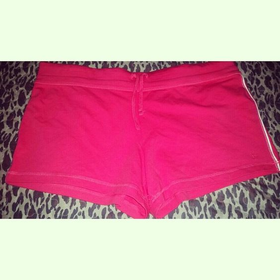*NWOT*Hot pink elastic waist shorts Brand new  So cute to wear to the gym or just at the house  (: Dresses