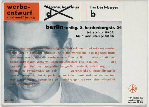 Advertising brochure for bauhaus magazine. Herbert Bayer.