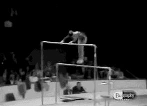 WOGymnastika: Uneven Bars Collapse After The Gymnasts Lands Her Dismount (GIF)