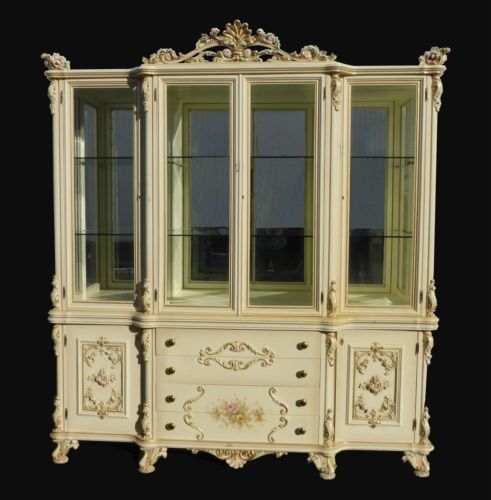 Italian French Provincial Images On: Vintage French Provincial Venetian Ornate CHINA CABINET