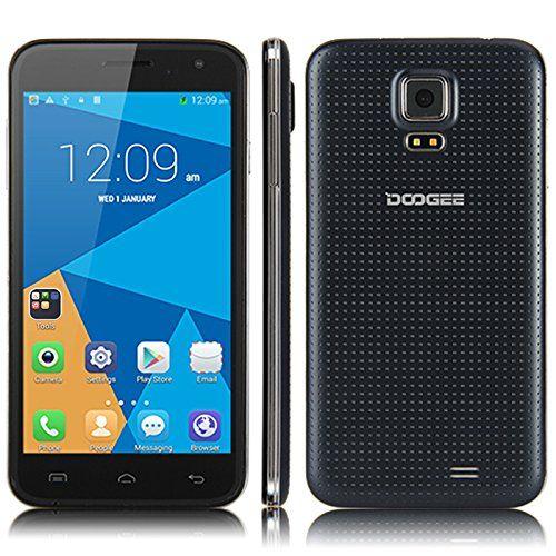 """Doogee DG310 - Smartphone libre (pantalla de 5.0"""" Quad Core 1,3 GHz, Android 4.4 1 GB, 8 GB, Dual SIM, 1.3MP/5.0MP cámaras duales), Negro: Amazon.es: Electrónica"""