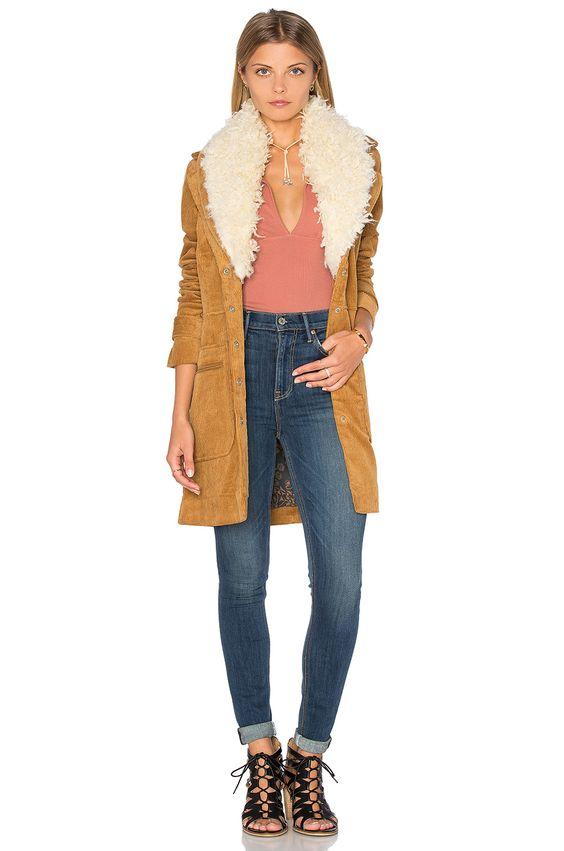 FREE PEOPLE Lady Lane Fur Collar Jacket. #freepeople #cloth #dress #top #shirt #pant #coat #jecket #jacket #shorts #ski