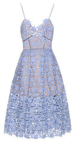 """Pin for Later: 50 Kleider für alle Gäste einer Hochzeit im Sommer  Self-Portrait hellblaues Spitzenkleid """"Azaelea"""" (350 €)"""