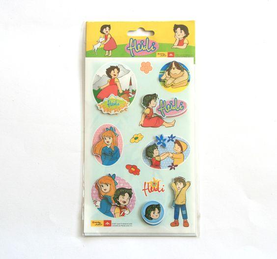 Stickers 3D dessin animé HEIDI modèle n°1 : Stickers, autocollants par boutique-creative-by-c-dona