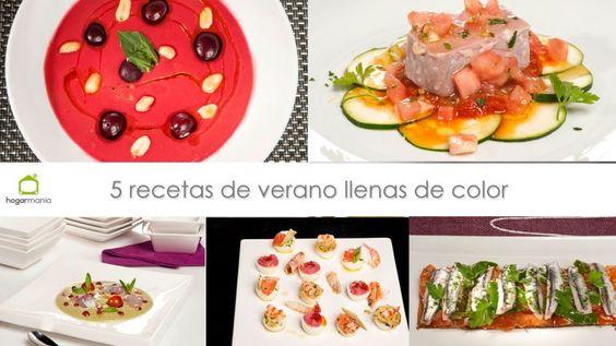 5 recetas de verano llenas de color