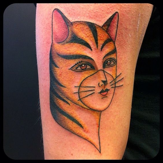 Cat woman catwoman tattoos traditional tattoo cat for Cat lady tattoo