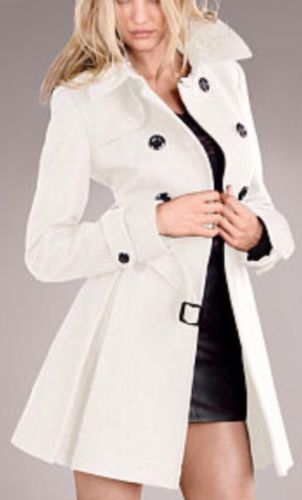 Victoria's Secret 6 S The Wool Trenchcoat Winter White | Cuddly