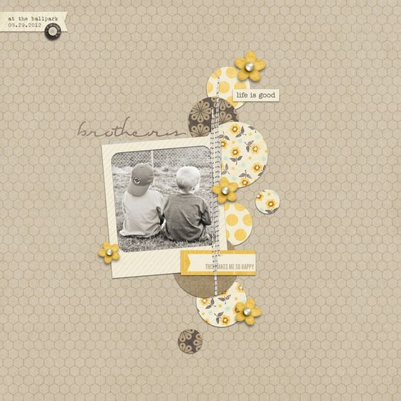#papercraft #scrapbook #layout   Sweet Shoppe Designs :: Products We Love 2014 :: Here in this Moment by Sugarplum Paperie