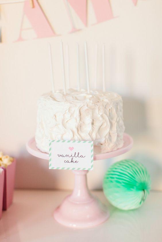 The TomKat Studio | Kate's Sweet Dreams Pajama Party | Pink + Mint Cake