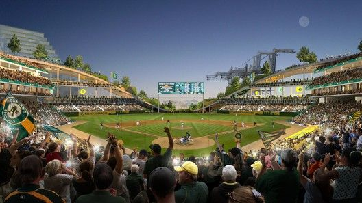 Gallery Of Big Gensler And Field Operations Reveal Design For Oakland Athletics Baseball Stadium 3 Oakland Athletics Baseball Baseball Stadium Athletics Baseball
