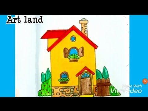 رسم منزل سهل خطوة بخطوة House Drawing Easy Step By Step Youtube Art