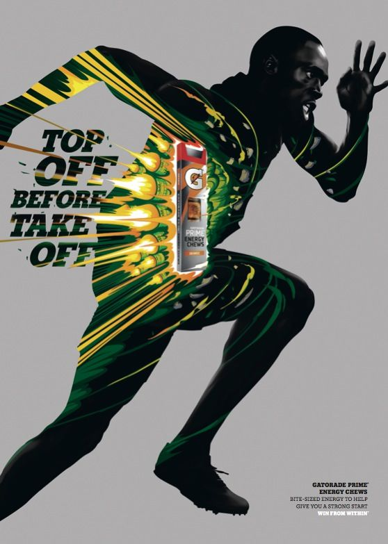 Top off before take off // Ad for: Gatorade | visual ...