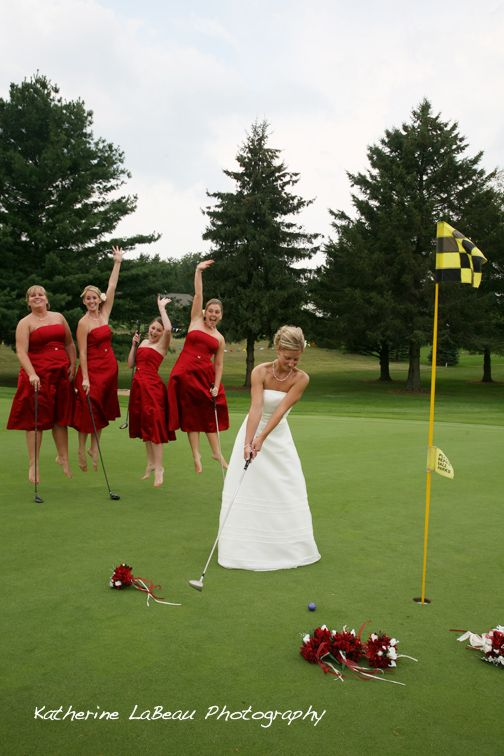 Bride Grabbing Groom From The Golf Course This Would So Be Chris Wedding Times Pinterest And Weddings