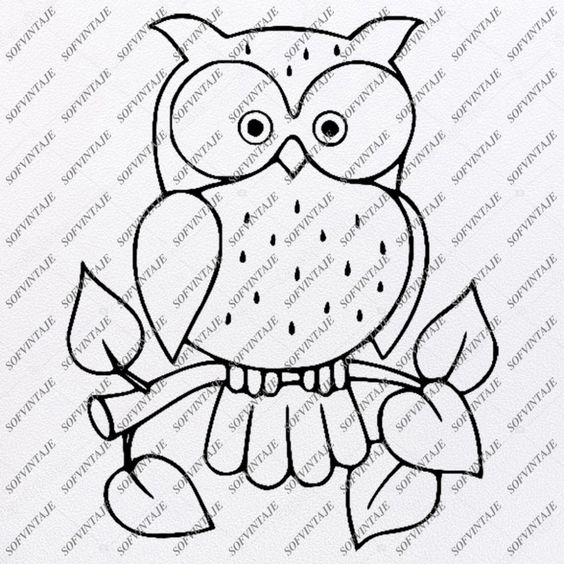 Owl Svg File - Owl Tattoo Svg Design-Clipart-Animals Svg File-Animals – SOFVINTAJE