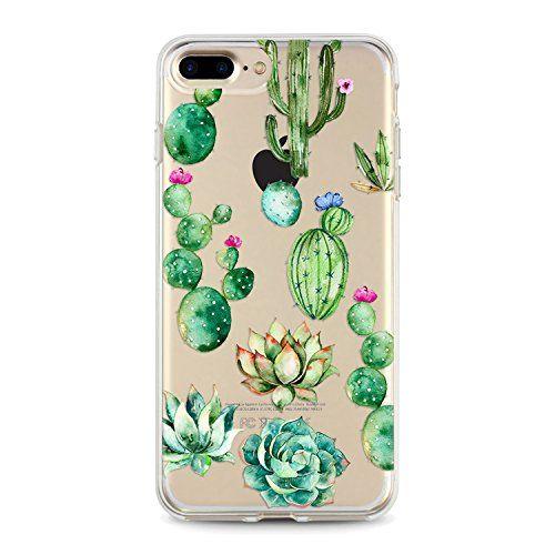 Iphone 8 Flexible Case With Super Cute Design Cactus Iphone Cases Clear Iphone Case Cactus Iphone Case