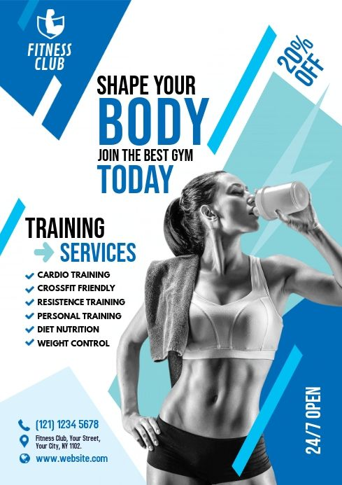 Create The Perfect Design By Customizing Easy To Use Templates In Minutes Easily Convert Your Image Designs Into Vide Fitness Flyer Workout Posters Gym Poster