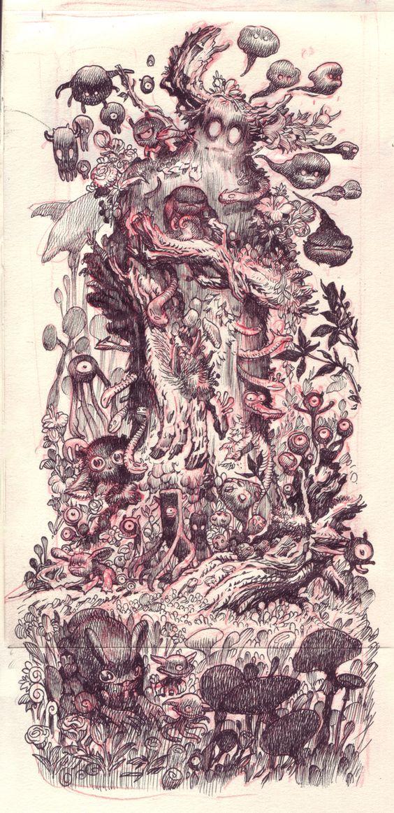 Forest Spirit - Sketch - © Stan Manoukian