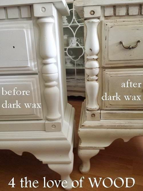 4 The Love Of Wood: USING DARK WAX ON WHITE PAINT   Video | Painting  Furniture | Pinterest | Dark Wax, White Paints And Wax