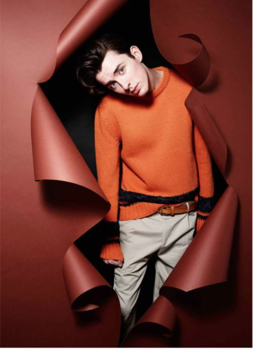 Matthew Beard in Hermès SS2015 Photo by Rankin Styling Alessandro Calascibetta for Style Fashion Issue