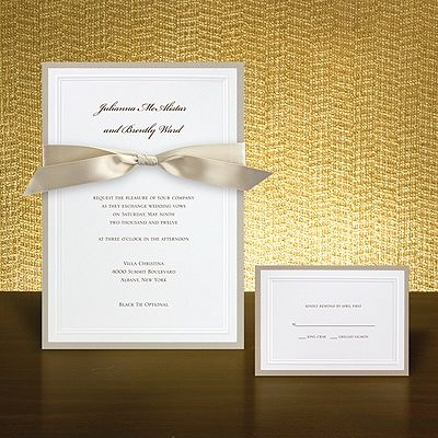 Taupe Wedding Colors | Buy Taupe Wedding Invitation from Bed Bath & Beyond Wedding ...
