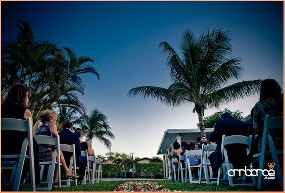 Outdoor Intimate wedding #ceremony #outdoor #Miami
