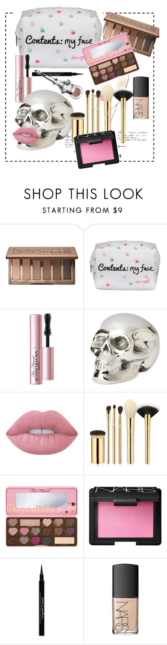 """Makeup pack"" by aneta-sundova on Polyvore featuring beauty, Urban Decay, Lipsy, Too Faced Cosmetics, Chanel, Jan Barboglio, Lime Crime, tarte, NARS Cosmetics and Givenchy"
