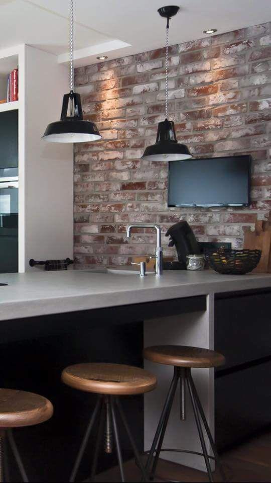 Old Look New York Style Steinstreifen In Der Kuche Kuchendesign New Yorker Loft