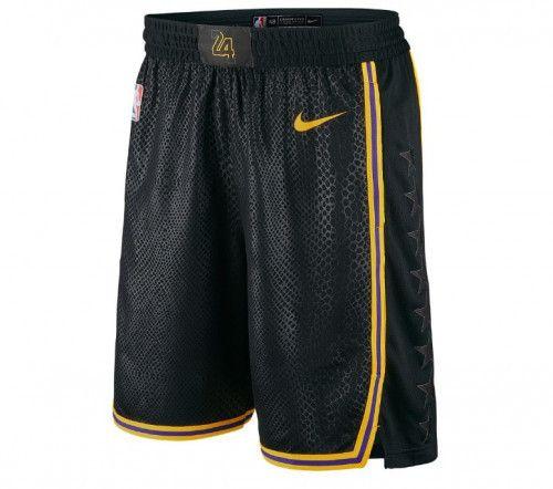 Men's Lakers Nike Icon Basketball Shorts Black Snake Skin Pattern ...