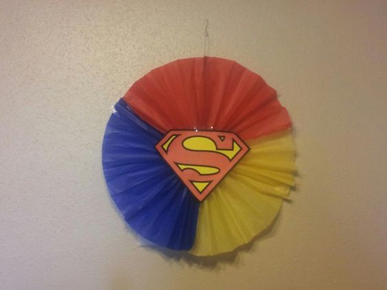 due to helium shortage I had to make my own superhero decorations ...