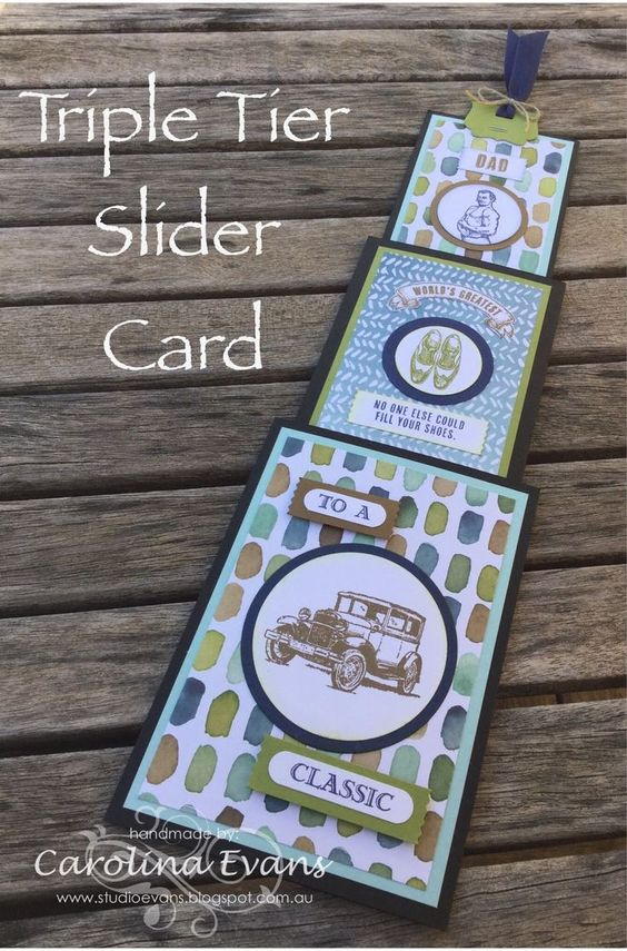 Carolina Evans - Stampin' Up! Demonstrator, Melbourne Australia: Crazy Crafters April Blog Hop - CASE'ing Dawn Griffith with a Triple Tier Slider