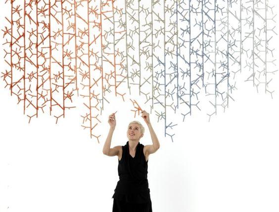 dimensionale Strukturen Aufbauen-Design Messe-Benjamin HUbert - das modulare raumtrennsystem benjamin hubert
