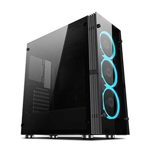Aigo Atlantis Atx Mid Tower Desktop Computer Gaming Case Tempered