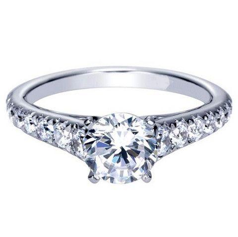 "Ben Garelick Royal Celebrations ""Madison"" Round Diamond Engagement · ER8259W44JJ · Ben Garelick Jewelers"