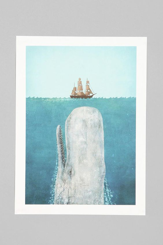for downstairs after we get the band room migrated to basement!Terry Fan For Society6 The Whale Print  #UrbanOutfitters