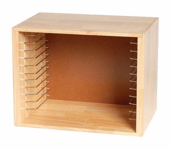 Puzzle Storage Rack, Natural Solid Wood