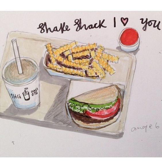 Shake Shack illustration burger