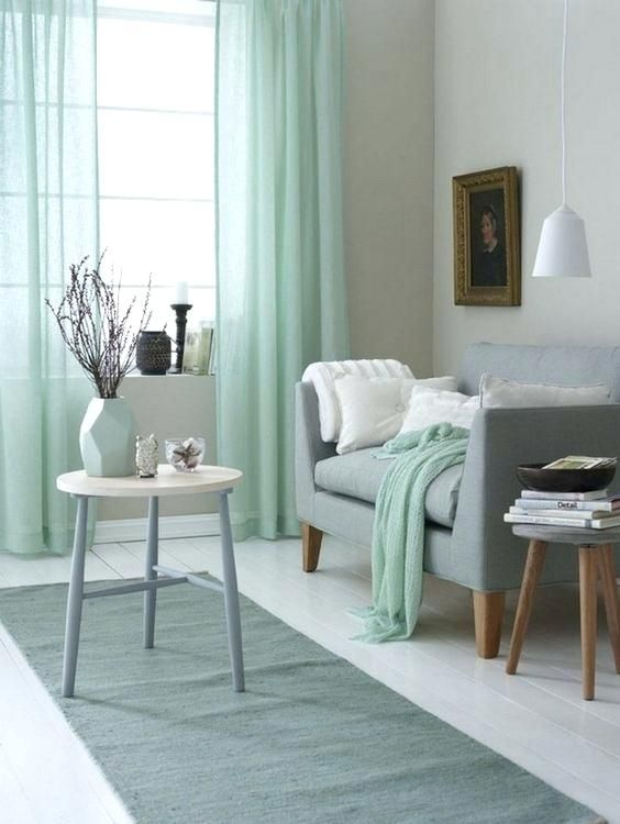 Light Teal Living Room Spring Inspired