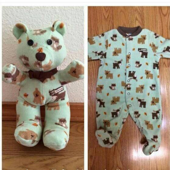 Make a cute bear out of one of their pjs for them as a keepsake!