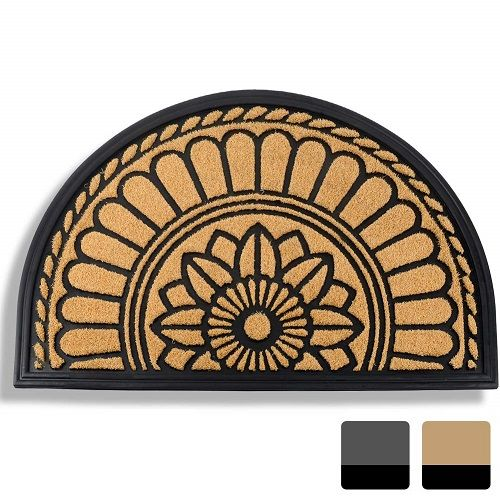 33 90 Mibao Half Round Outdoor Door Mat 24 X 36 Non Slip Flower Entrance Door Mats Door Mat Outdoor Rugs