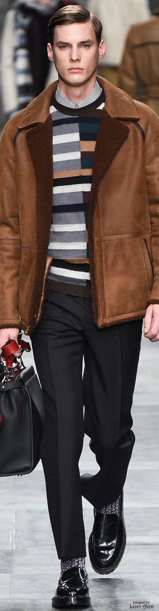 Fendi 2015   Menswear   Men's Fashion   Men's Outfit for Fall/Winter   Smart Casual   Moda Masculina   Shop at designerclothingfans.com