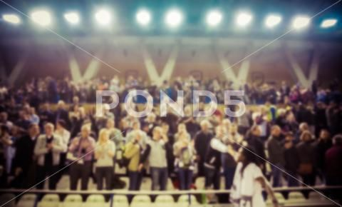 Photograph Blurred Background Of Crowd Of People In A Basketball Court 73942327 Blurred Background Blur Blur Photo